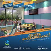 Apartemen Allegria Bandung Modal 1/2 Harga Rental Guarantee