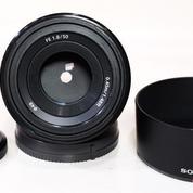 Sony FE 50mm F.1.8 Black Mulus