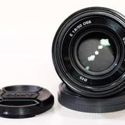 Sony E 50mm F.1.8 OSS Black Lengkap Boxx