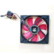 Fan Casing 12cm Hitam Merah / Kipas Cpu + Baut