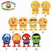 Boneka PER Emoji Emoticon Hiasan Dashboard Mobil Interior No Led Pegas Mainan Boneka Tidak Lampu