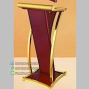 Podium Minimalis Stainless Ready Stock Mewah Gold Termewah