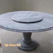 Meja Makan Bulat Putih Marmer Lampung Include Kaki Meja Marmer