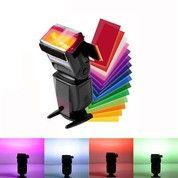 Gel Filter Flash SPEEDLITE Diffuser 12 Sets Color Strobist Speedlight