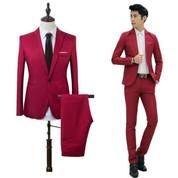Setelan Blazer Pria Merah