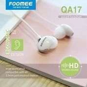 Handsfree Earphone FOOMEE QA17 Original Foomee 6D Stereo Sound Headset
