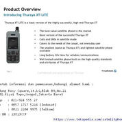Telepon Satelit Thuraya XT-Lite,Handset Satelit Handal