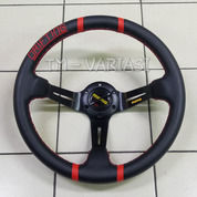 Stir Racing Import Momo Drifting 2 Garis Merah Celong 14 Inchi Palang Hitam