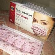 Masker Cantol One Med Motif Bunga Per Box