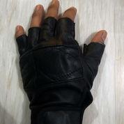 Sarung Tangan Kulit Asli Half Finger
