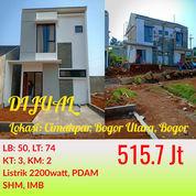 Cluster 2 Lantai Cimahpar Harga Murah Di Pusat Kota Bogor Dekat Tol Tanah Baru