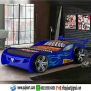 Tempat Tidur Anak Karakter Mobil Balap, Kasur Anak Karakter Mobil