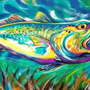 Lukisan Raja Ikan Salmon