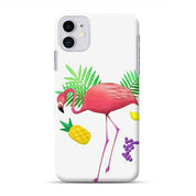 Flamingo With Leaves And Fruit IPhone 11 Custom Hard Case