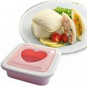 Cetakan Roti Bentuk Kotak Love, Bread Mould Love
