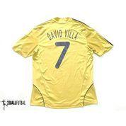 2008-2010 SPAIN AWAY ORIGINAL JERSEY Size L DAVID VILLA #7