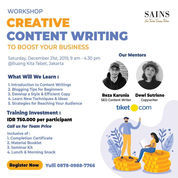 Workshop Creative Content Writing With Tiket.Com - JKT Class