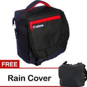 Tas Kamera Slempang Kode K Canon Free Rain Cover Palapastreet