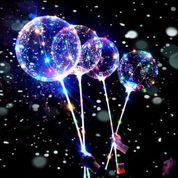 Balon LED RGB - BOBO LED - Balon Lampu Tumblr 3 MODE + Gagang