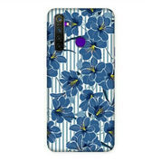 Blue Flowers Oppo Realme 5 Pro Custom Hard Case