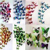 Stiker Kupu 3D Wallsticker Butterfly Magnet Tembok Teras Kebun Home Dekor