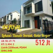 Rumah 2 Lantai Sukaresmi Kota Bogor Dekat Stasiun Cilebut Dan Tol Sentul Selatan