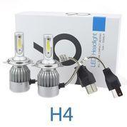 TaffLED Lampu Depan Mobil Headlight LED Putih H4 COB 2 PCS