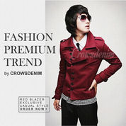 Jaket Blazer Merah Double Breasted Merah Sk22