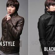Leather Jacket, Jaket Kulit Hitam Coklat Sk25