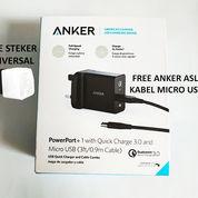 Anker PowerPort+ 1 USA With Qualcomm Quick Charge 3.0 Original Garansi Resmi