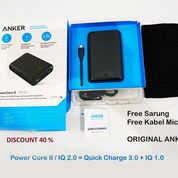 Anker Power PowerBank Core II Atau IQ 2.0 (Quick Charge 3.0 + IQ) 10.000 MAh NEW
