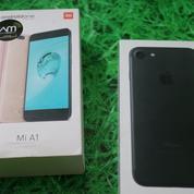 Murah 2Hp Iphone 7 Black 128gb Dan Xiaomi Mi A1 Black 4gb/64gb