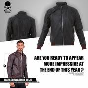 Jaket Kulit Pria, Leather Jacket Korean Style Sk32