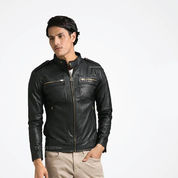Leather Jacket Korean Style, Jaket Kulit Vino G Bastian Sk38