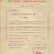 Sertivikat DEPOSITO Bank Tabungan N.I.S.P