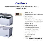 CHEST FREEZER WITH HINGED SOLID LID COOLMAX CM 728