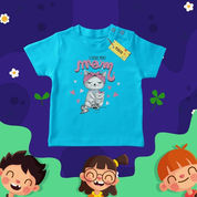 Kaos Anak Custom Lucu, Warna Biru