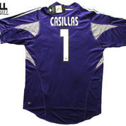 2004-2005 REAL MADRID GK HOME ORIGINAL JERSEY Size S CASILLAS #1