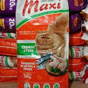 MAKANAN KUCING MAXI CAT FOOD CHICKEN TUNA 20KG TERMURAH