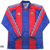 1996-1997 BARCELONA HOME ORIGINAL JERSEY LONG SLEEVE Size XL