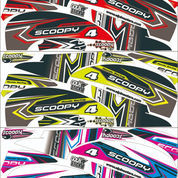 Striping Variasi Sticker Lis Scoopy Fi Lama Semi Full