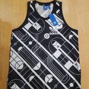 Adidas Trank Tank Jersey Black White Trefoil Black Bnwt