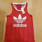 Adidas Tank Top Red Cali Jersey Trefoil Red Bnwt