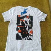 Adidas Original Tongue Label Basket Ball T-Shirt White Bnwt