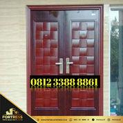 0812-3388-8861 (FORTRESS), Pintu Rumah Warna Orange Tahan Banjir,
