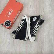 Sepatu Sneakers Import Murah CT All Star 70s High Black White | Pria Dan Wanita