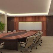 Meeting Table, Meja Resepsionis & Backdrop Minimalis Untuk Kantor