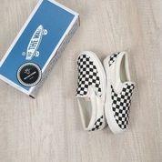 Sepatu Murah Import Vans SlipOn OG Checkerboard Black White   Pria Dan Wanita