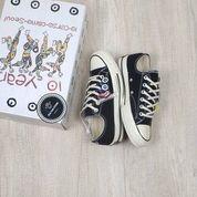 Sepatu Murah Import CT All Star 70s Low 10Years Como Seoul Black