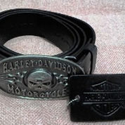 Sabuk Buckle With Belt Skull Harley